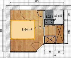 Conseils pour aménager une chambre de 13m2 en petite suite parentale - 42 messages Master Suite, Construction, House Design, How To Plan, Architecture, Garage, Home Decor, Messages, Studio