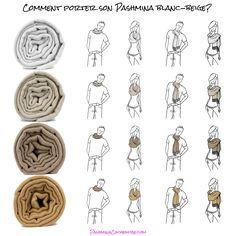 Comment porter son pashmina beige - wear pashmina scarf for men - porter  une écharpe homme b76862945a6