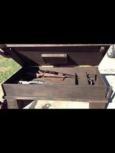 21 Interesting Gun Cabinet and Rack Plans to Securely Store Your Guns Secret Storage, Gun Storage, Woodworking Bench Plans, Custom Woodworking, Gun Cabinet Plans, Hidden Gun Cabinets, Wooden Planters, Pallet Projects, Craft Projects