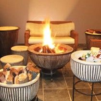Water Plant stock a magnificent range of stylish and durable braais. Boma fire pit braai stands is a very modern, stylish way of braai-ing. Outdoor Fire, Indoor Outdoor, Outdoor Decor, Fire Pit Party, Chelsea Garden, Stand Design, Home Renovation, Party Planning, Home Improvement