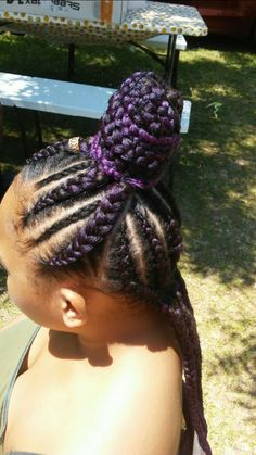 Feed In Half Up Half Down Natural Hair Style Braids