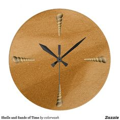 Shells and Sands of Time - Images of real sand and real shells are the ingredients for this clock, a reminder of the sands of time.