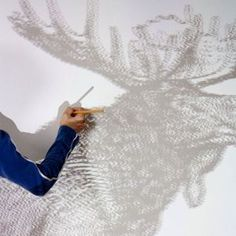 Use a Projector to Create a Wall Mural Crafts For Kids, Arts And Crafts, Cowgirl And Horse, Diy Interior, Escape Room, Painting Inspiration, Diy Art, Wall Murals, Really Cool Stuff