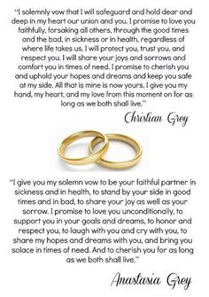 Christian & Ana's wedding vows
