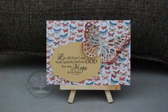 Let all that I am wait quietly before God for my hope is in Him. Ps. 62:5 Digital File by DesignVerses on Etsy. Card created using digital file and Stampin Up! Butterflies thinlits dies.