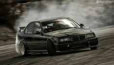 BMW E36 M3 black drift