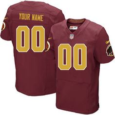 10d70b03 Nike Washington Redskins Customized Burgundy Red/Gold Stitched Elite Men's  NFL Jersey London Fletcher,