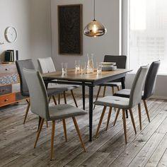 Esstisch in Grau online bestellen Dining Table, Furniture, Home Decor, Moving Out, Dinner Room, Dinning Table, Oak Tree, Food, Interior Design