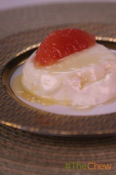 Grapefruit Panna Cotta by Michael Symon! Michael's take on this tasty Italian dessert is sure to be a hit with your family! #TheChew