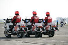 Motocyclistes - Militaire Politie - Police Militaire - Belgique