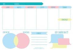 free week planner printable planificador semanal descargable gratis www.estibalizlopez.com