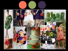 Events By Love: color inspirations - Coral, Sage & Plum