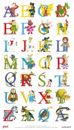 Pixi-alfabet - Plakat Vild med denne - skal have fat i en til ungerne Alphabet Symbols, Alphabet And Numbers, Norse Alphabet, Danish Language, Baby Barn, Drawing Letters, School Decorations, Kids Prints, Alphabet