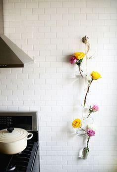 Hanging Crafts to Spruce up Your Pad - Floating Floral Detail #plaidcrafts #handmadecharlotte