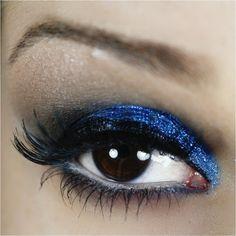 passo a passo maquiagem azul com traçado duplo para a noite - tudo make 022