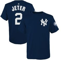 8347f01832c Derek Jeter New York Yankees Majestic Youth Number Retirement Day Name    Number T-Shirt - Navy