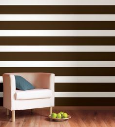 Stripes are classic! These brown stripes by WallPops bring a warm, Autumn-inspired color to walls that is fashionable year round!
