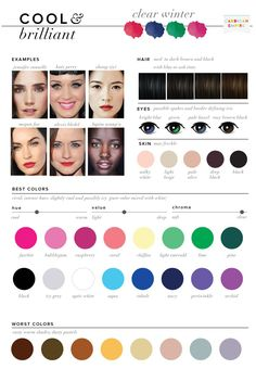 J - soft summer - Best & Worst Colors for Summer, Seasonal Color Analysis Cool Winter Color Palette, Soft Summer Palette, Deep Winter Colors, Summer Colors, Deep Winter Palette, Summer Color Palettes, Paleta Deep Winter, Clear Winter, Clear Spring