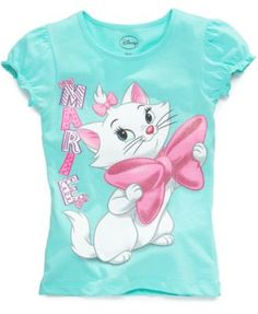 Disney kids t-shirts, little girls aristocats tees - kids - macy's yen Disney Shirts For Family, Shirts For Girls, T Shirt Painting, Bookmarks Kids, Girls Summer Outfits, Aristocats, Disney Outfits, Cute Kids, Little Girls