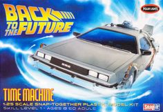 Time Machine Car Model Snap Together Back To The Future Kit Ages 8 Up Gift Fun #POLARLIGHTS