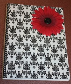 Duct tape decorated notebook