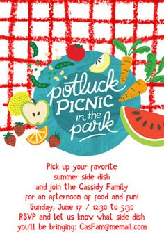 picnic in the park printable invitation customize add text and photos