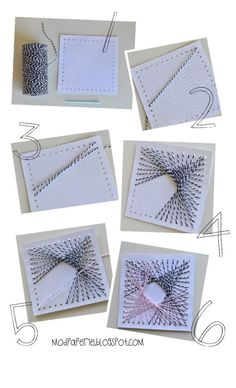 Twine art-square for a card