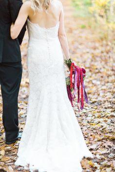 Pretty dress: http://www.stylemepretty.com/michigan-weddings/detroit/2015/04/24/elegant-woodland-wedding-inspiration/ | Photography: Sarah Dunn - http://www.sarahelizabethdunn.com/