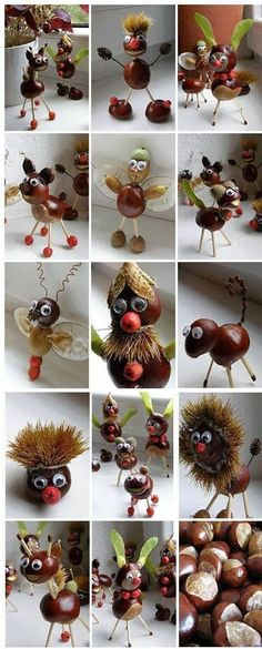 Crafts in autumn with children - from natural materials to knots .- Basteln im Herbst mit Kindern – von Naturmaterialien bis Knöpfe * Mission Mom Fall, handicrafts in autumn with children – from natural materials to buttons, Mission Mom - Kids Crafts, Diy Projects For Kids, Diy For Kids, Diy And Crafts, Easter Crafts, Art Projects, Autumn Crafts, Nature Crafts, Christmas Crafts