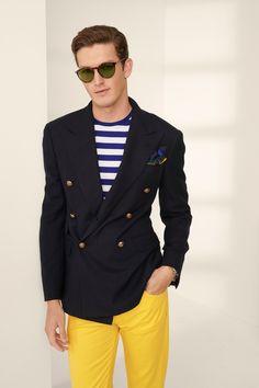 Ralph Lauren Spring 2020 Menswear Fashion Show Collection Preppy Mens Fashion, Men Fashion Show, Moda Fashion, Fashion Show Collection, Fashion Week, Purple Label, Madrid, Ralph Laurent, Vogue Russia
