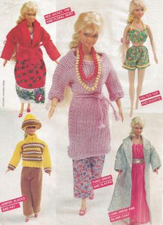 Vintage Barbie Knit Sew Outfits Woman's Day 1981 by PreciousIdentity on Etsy