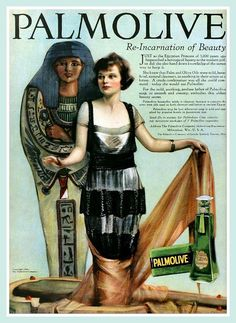 Vintage Advert for Palmolive (Ancient Egypt) - MPC March 1920 by CharmaineZoe, via Flickr