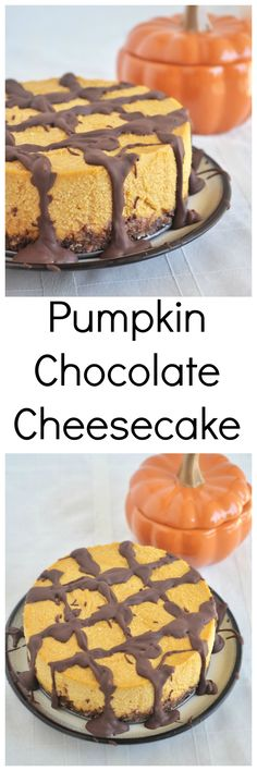 Make this healthy and decadent Pumpkin Chocolate Cheesecake to get into the spirit of Fall! Vegan, gluten free and paleo. No cooking required!