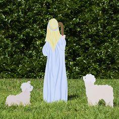 Outside Christmas Decorations, Christmas Yard Art, Xmas, Outdoor Nativity Sets, Jesus Mary And Joseph, Thing 1, The Shepherd, Holy Family, Sheep