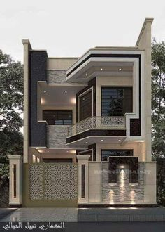 Top 35 Cool House Design Ideas Ever Built - Engineering Discoveries House Main Gates Design, Two Story House Design, Modern Exterior House Designs, 2 Storey House Design, Classic House Design, Modern House Facades, Latest House Designs, Bungalow House Design, Unique House Design