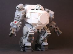 Creative robot made with Lego pieces
