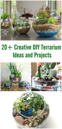20+ Creative DIY Terrarium Ideas and Projects #craft #garden #terrarium