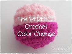 The PERFECT Crochet Color Change ; interesting. I wonder what would happen if she did a sl st row in either color and skipped the back-loop crochet?