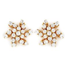 Grt Collections Diamond Earrings Fancy Seven Stone