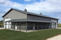 A long shot of this eye catching modern barn metal shop building with living quarters plans fantastic storage home w plan pictur Metal Building House Plans, Metal Shop Building, Pole Barn House Plans, Shop House Plans, Building Ideas, Shop Plans, Morton Building, Barn Plans, Building Systems