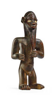 Human Sculpture, Lion Sculpture, Congo, Statues, Afrique Art, Arte Tribal, Afrikaans, Metal Working, The Past