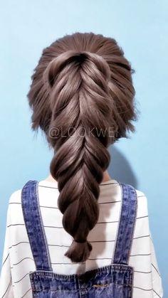 Braided Hairstyles Tutorials, Easy Hairstyles For Long Hair, Diy Hairstyles, Pretty Braided Hairstyles, Hairstyles Videos, Hairstyles 2018, Hair Tutorials, Hair Up Styles, Medium Hair Styles