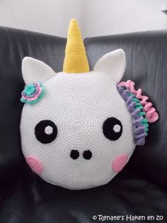 Gratis patroon Kussen Eenhoorn / free pattern Unicorn cushion