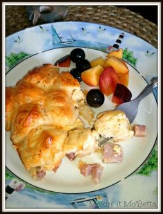 pull-apart casserole with ham and cheese, biscuits, and just enough ...