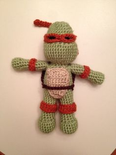 Crochet Teenage Mutant Ninja Turtle by KatesTrade on Etsy, $17.00