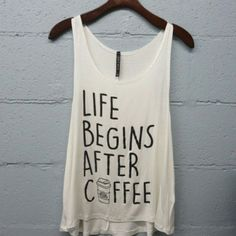 Life Begins With Coffee Tank