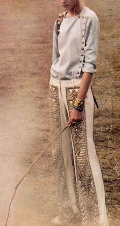 great pants and look, so boho chic