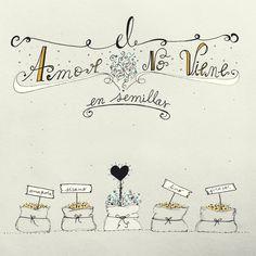 el amor no viene en semillas - by Huemula