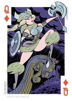 """Pin up girl for Norway. She's one of the cards in the deck """"54 Intercontinental Cuties"""" Available for purchase, here: or here:"""