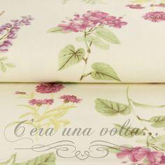 Merceriaceraunavolta.it | Tessuto Sanderson fiori e foglie